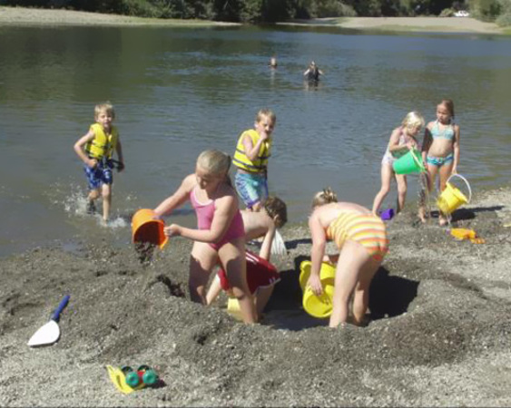 family camping on russian river