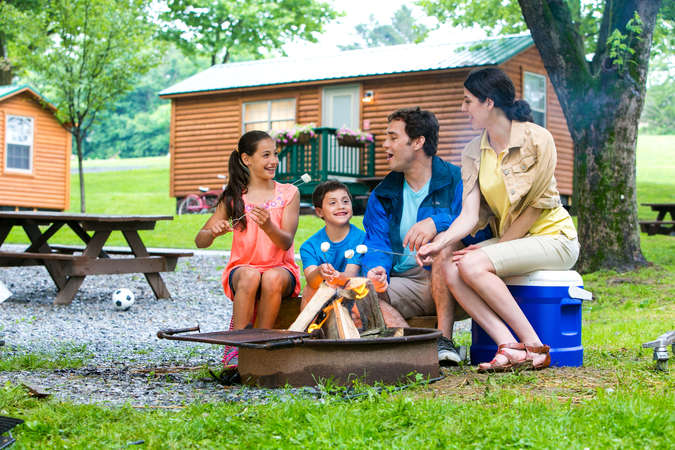 Make memories at the Old Mill Stream Campground
