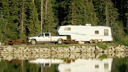 rv camping spokane