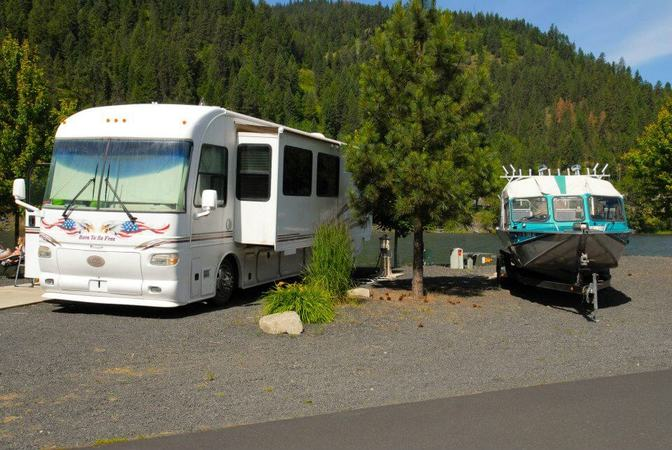 rv park on river cleartwater crossing campground