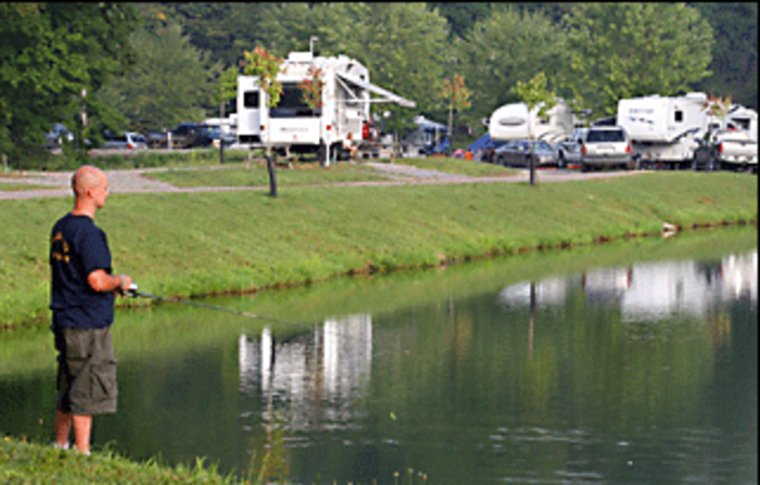 Mohican adventures bookyoursite for Fishing campsites near me