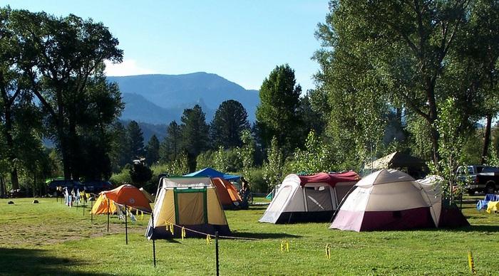 tent sites near chalk creek
