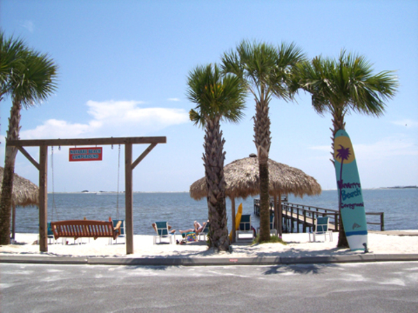 campgrounds with private beach fl