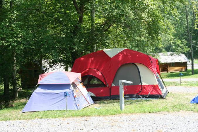 tent camping in northfork