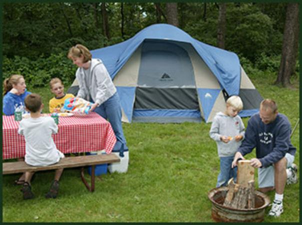 tent sites in wisconsin dells