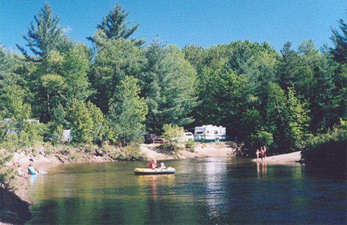 campground on river near Adirondack