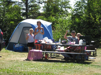 tent camping grand marais