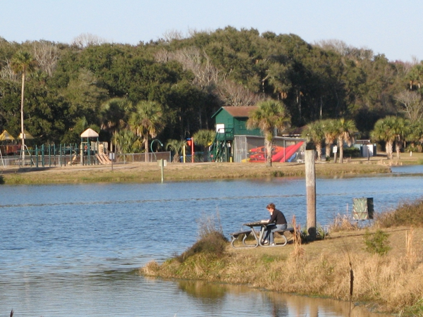 fishing at campground in fl