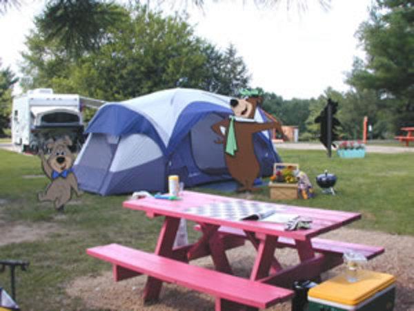 tent sites near the dells